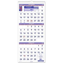 """AT-A-GLANCE 2019 Wall Calendar, 3-Month Display, 12"""" x 27"""", Large, Wireb... - $22.21"""