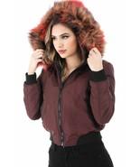 Salt Tree Women's Thick Nylon Front Zip Reversible Hooded Jacket US Seller - $64.99