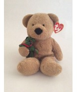"""TY BEANIE BABY Pluffies brown BEARY MERRY W/ GREEN PLAID BEAR 9"""" Christm... - $9.49"""