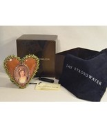 Jay Strongwater Enamel & Jeweled Dominique Heart Frame, Deep Pink - $165.00