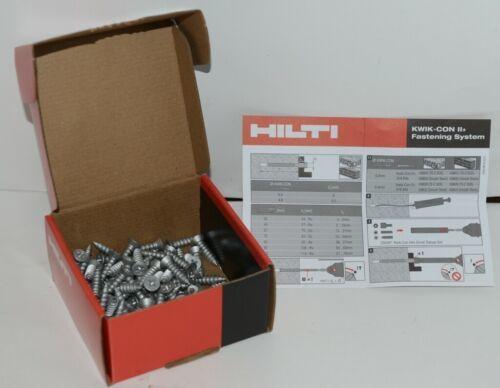 Hilti 433047 KwikCon II PLUS 1/4  x 1 1/4 in. Phillips Flat Head Screws 100pcs