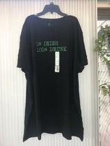 St Patrick Tee Men's Short Sleeve Black 0% Irish 100% Drunk T-Shirt XXXL... - $10.87