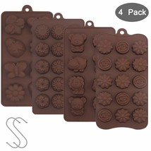 YuCool Non Stick 4pc Candy Mold, Silicone Baking Mold for Chocolate Cake... - ₨876.17 INR