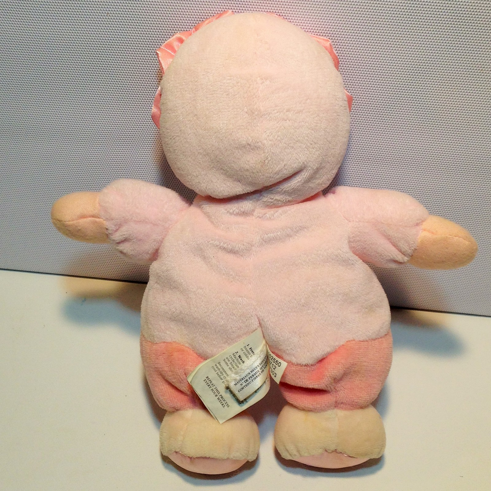 """Pink Baby Doll Plush Rattle Toy Kids Preferred Asthma Allergy Friendly Lovey 8"""" image 5"""