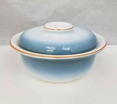 Nikko Gradiance Cereal Soup Bowl Lid Set of 4 Azure Leafette Dish Microwave Safe image 2