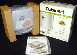 Brand New in Box!•Cuisinart•Dual Sandwich Grill•Maker•Model No. WM-SW2N•... - £14.90 GBP