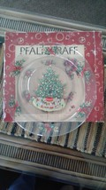 Pfaltzgraff  glass Christmas Heritage round platter - $34.75