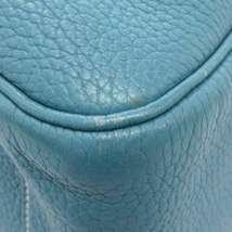 HERMES Lindy 34 Taurillon Clemence Blue Jean Handbag Shoulder Bag #Q Authentic image 5