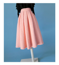 Women Winter Warm Wool Skirt Midi Full Pleat Skirt Winter Party Skirt,BL... - $66.99