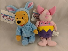 Disney Easter Bunny Winnie the Pooh and Egg Piglet Plush Lot Stuffed Animal toy - $10.95