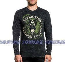 Affliction AC Flag A20465 Long Sleeve Fashion Graphic T-shirt Top For Men - $49.95