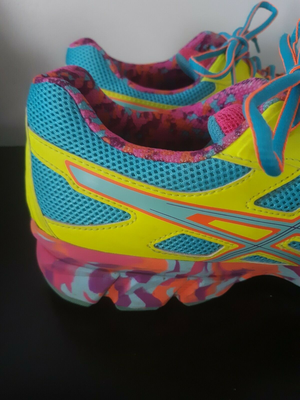 Asics Gel Franctic 7 Sneakers Shoes Running Training Size 10 Womens Multi Color image 4