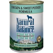 Natural Balance L.I.D. Limited Ingredient Diets Wet Dog Food, Chicken & Sweet Po - $52.56