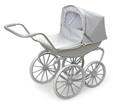 "Kids Girls Pretend Play London Pram Executive Gray Toy Stroller Fits 18"" Dolls - $74.95"
