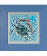 Crab 2018 Spring Series Buttons and Beads cross stitch kit  Mill Hill - $13.50