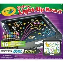 Crayola Dry Erase Light-Up Board NIB 16 Neon Crayons Dual Sided Light or Dark - $37.12