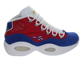 Mens Reebok Question Mid Iverson Banner Red Royal White Gold M46120 - $189.99