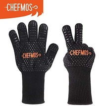 """Grill Gloves, 932°F Extremely Heat Resistant BBQ Gloves, 13"""" Protective ... - $14.45"""