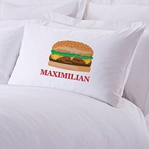 Personalized Direct Personalized Initial Cheeseburger Pillow Case - $8.99