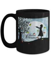 Sweet Dreams Mug, 15oz Black, Ceramic, Coffee, Tea Cup, Perfect Gift For... - $18.80