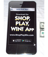 "MONOPOLY Safeway Shop-Play-Win Game 19.75"" Cardboard iPhone App Store Di... - $45.98"
