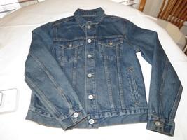 Mens Tommy Hilfiger L large Denim Jean jacket long sleeve 78B6619 495 - $100.97