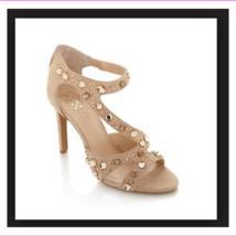 NEW VINCE CAMUTO KAYANNE PETAL SUEDE JEWELED DRESS SANDALS 6  M - $52.63