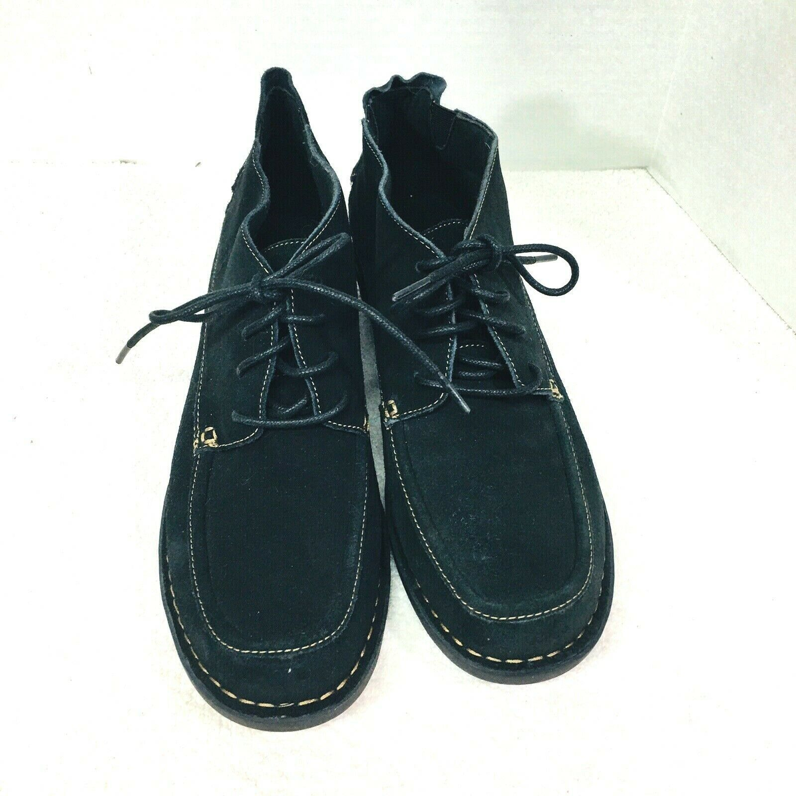 Primary image for Clarks Bendable Shoes Black Lace Up  Leather  New  No Box 11W