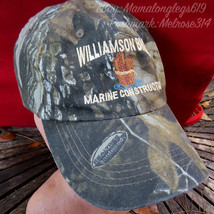 Realtree Camouflage Strapback Hat Cap Williamson Bros Marine Constructio... - $12.70