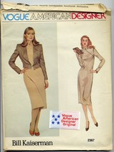 Vogue American Designer Bill Kaiserman 12 Vintage Sewing Pattern & Label... - $19.99