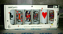 Luminarc Card Party 2oz Shot Glasses - Set of 6 - NIB - $16.69