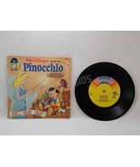 Disney Story of Pinocchio 33 1/3 RPM Vinyl Record & Book 311 Vtg 1977 Di... - $11.87