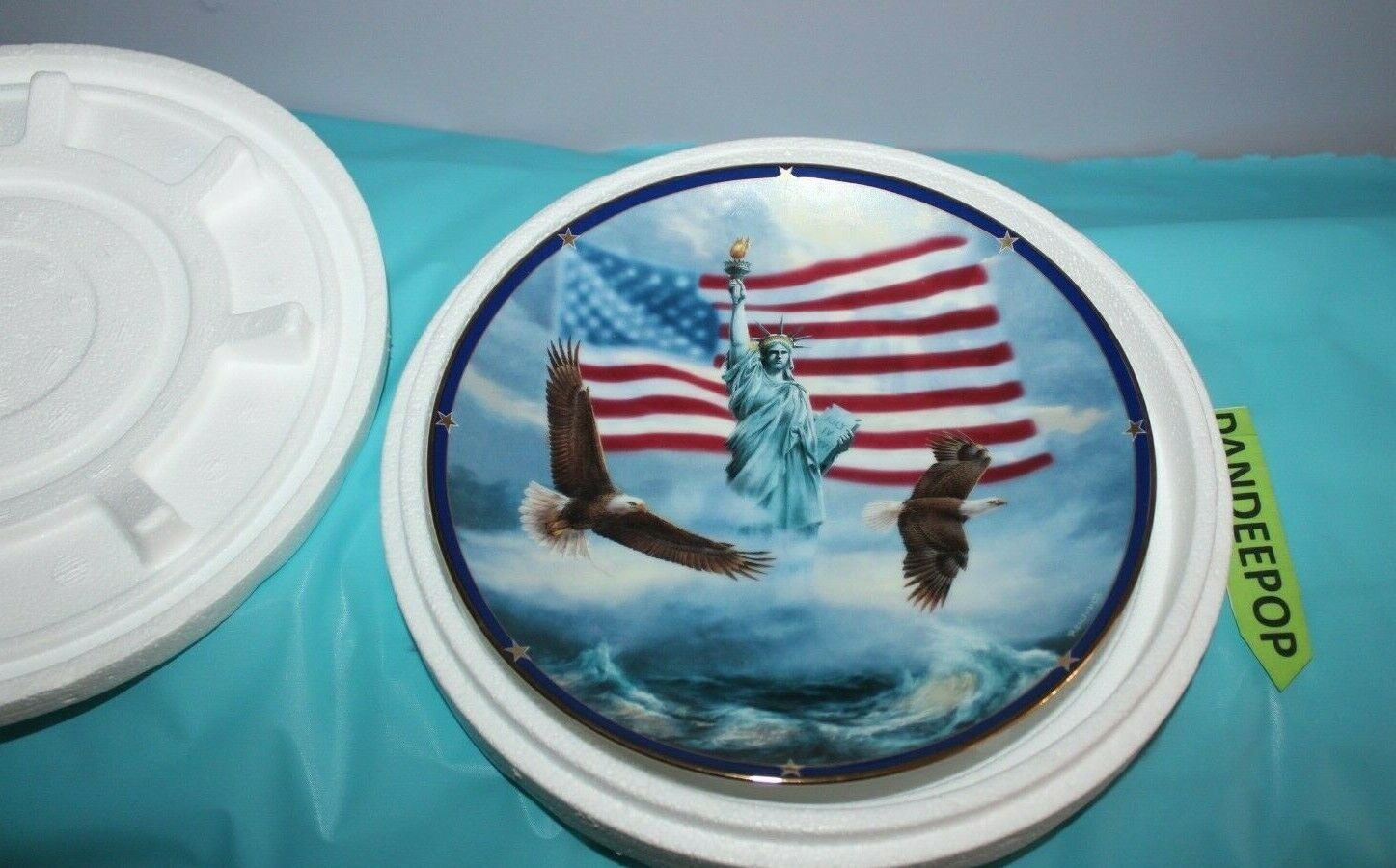 Primary image for Danbury Mint America Stands Proud Spirit Of America Plate Rudi Reichardt Ltd Ed