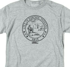City of Pawnee, Indiana 1817 graphic T-shirt Parks & Recreation TV series NBC348 image 2