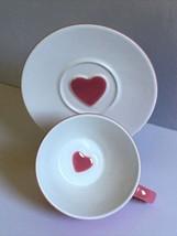 Starbucks 2005 Valentines Holiday Love Pink Heart Coffee Cup Mug Saucer EUC - $9.49