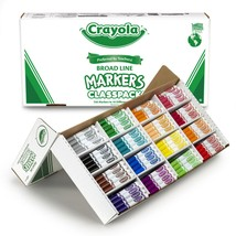 Crayola Non-Washable Classpack Markers, Broad Point, 16 Of - $75.99+