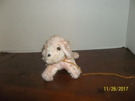 """seymour mann pink poodle puppy dog plush doll accessory 5"""" tall - $14.99"""