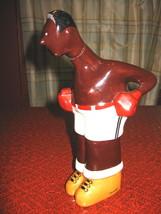 Art Deco Ceramic Boxer Figure Decanter, signed E. Margerie for G.Bastard... - $225.00