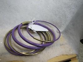 Vintage Style Thin set of 7 Bracelets Goldtone with purple - $4.70