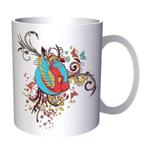 Bird Floral Beautiful Art 11oz Mug o139 - $10.83