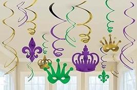 Mardi Gras Hanging Swirl Decorations (12pc) - $4.94