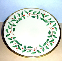 "Lenox Holiday Salad Dessert Plate Gold Banded Ivory China 8"" New - $24.90"