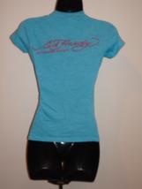 Ed Hardy Graphic TEE t-shirt XS BLUE - $14.00