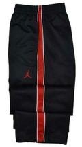 NEW KIDS BOYS NIKE JORDAN JUMPMAN BLACK RED TRACK PANTS 951103-297 SIZE L M - $33.33