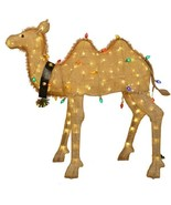 Large 4 Foot Lighted Camel Sculpture Pre Lit Outdoor Christmas Decor Yard - $247.00