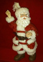 "Kurt S Adler Fabriche Santa Figurine Scarf blowing in the wind 10"" tall - $29.99"