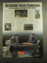 1981 Coleman Scanoe Ad - Scanoe from Coleman it's the newest concept - $14.99