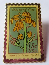 1979 15c SC #1785 Contra Costa Wall Flower Stamp Pin Pinback NEW - $6.92