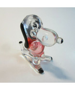 Vintage 1960's Clear Plastic Lucite Snoopy Beagle Dog Figurine - Hong Kong - $8.99