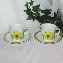 Royal Doulton Summer Days Lambethware Cup & Saucer Lot 2 Stoneware LS1002 Flaws - $8.20
